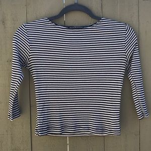 Brandy Melville black and white striped crop top